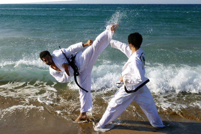 Kampfsport Traditional Taekwondo Strand